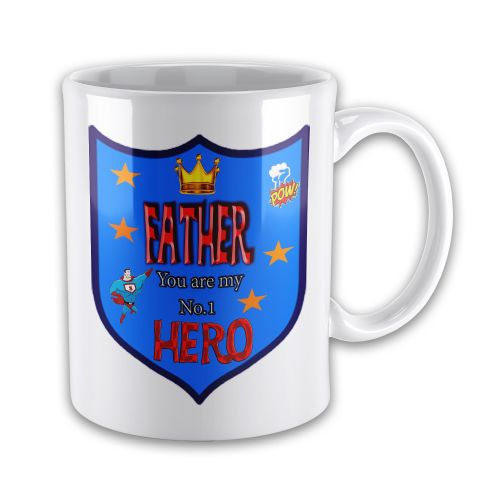 FATHER You Are My Number 1 Hero Novelty Gift Mug